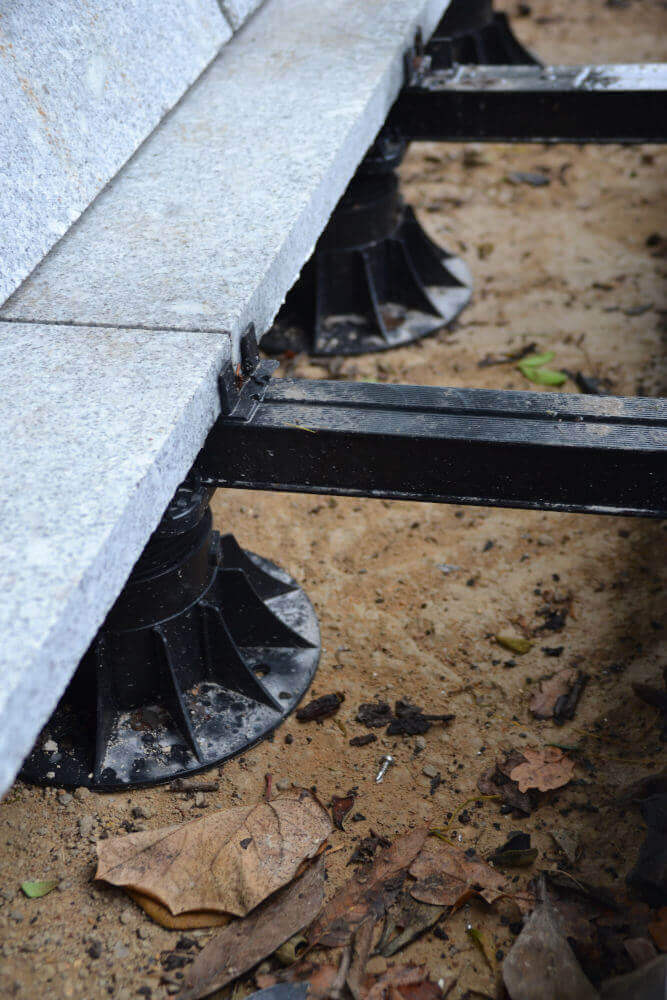 Granite decking raised